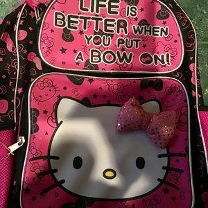 HELLO KITTY GIRLS BACKPACK NWT.